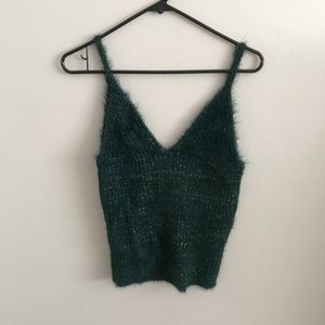 NEW Vici Ice Age Fuzzy Shimmer Knit Tank